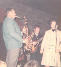 Vickie singing with Boots Randolph and his band around 1965