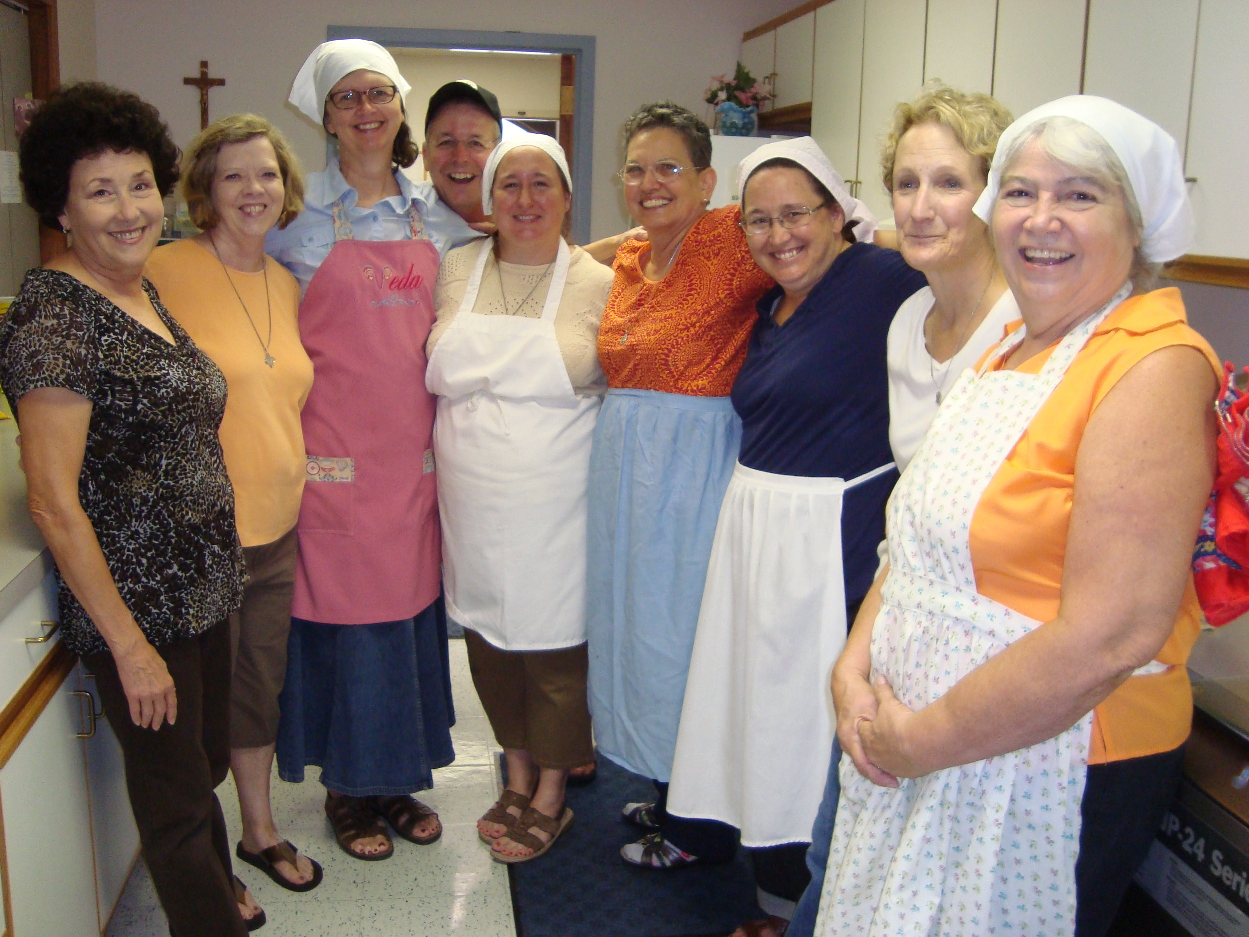 Oblates helping with Sr. Mary Therese's Golden Jubilee Reception