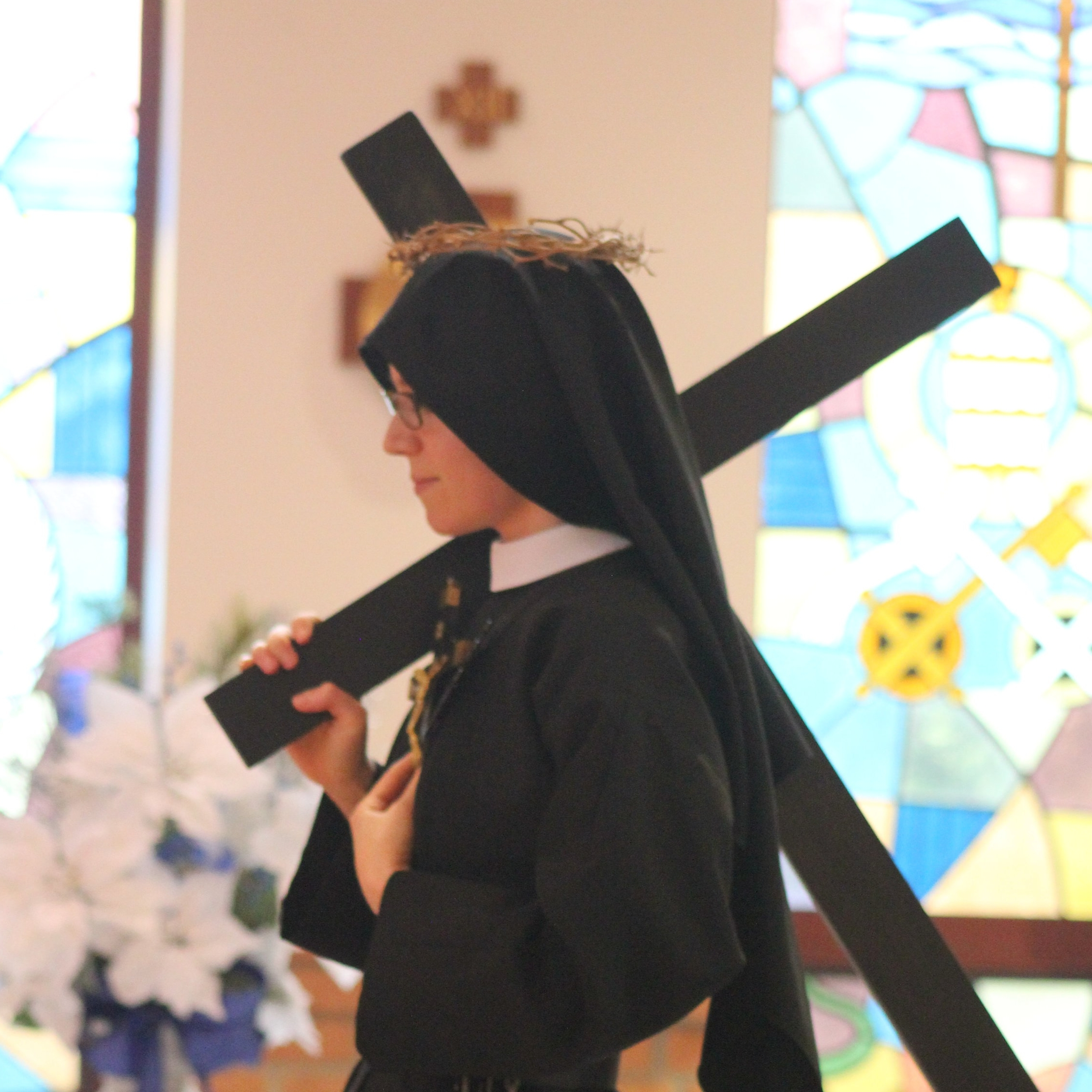 Spring 2018 Newsletter - Featuring Sr. Maria Faustina's first profession of vows & some big projects on the monastery grounds