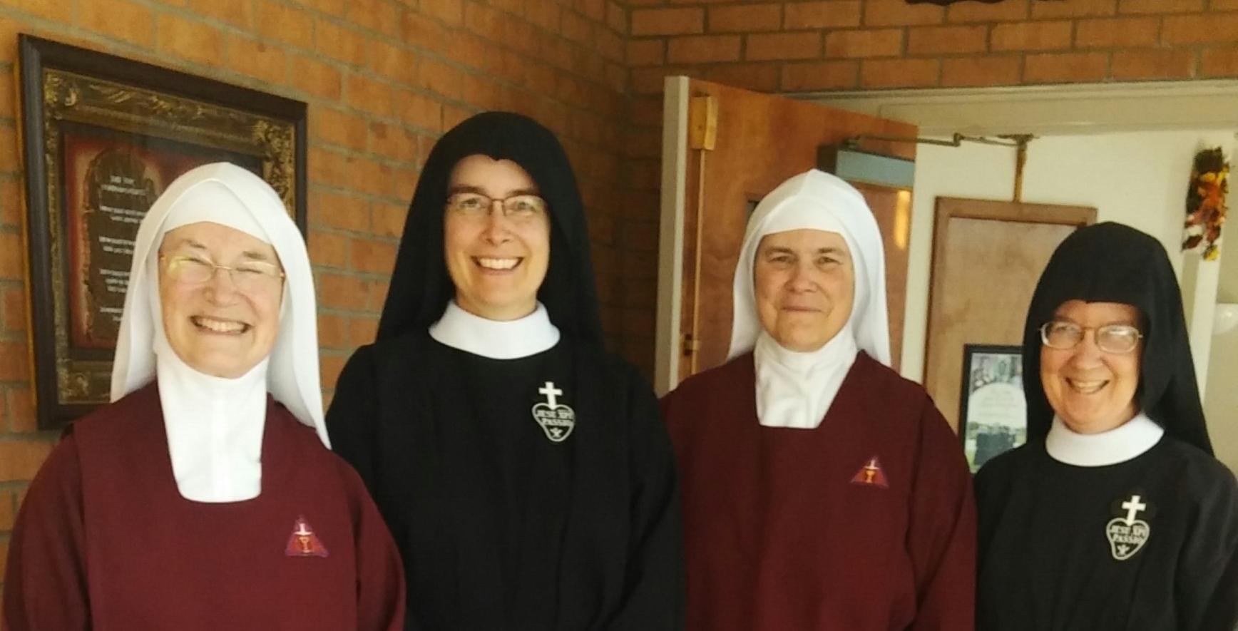 Mother Marietta, HPB; Mother John Mary, CP; Sr. Sarah Michael, HPB; Sr. Mary Veronica, CP