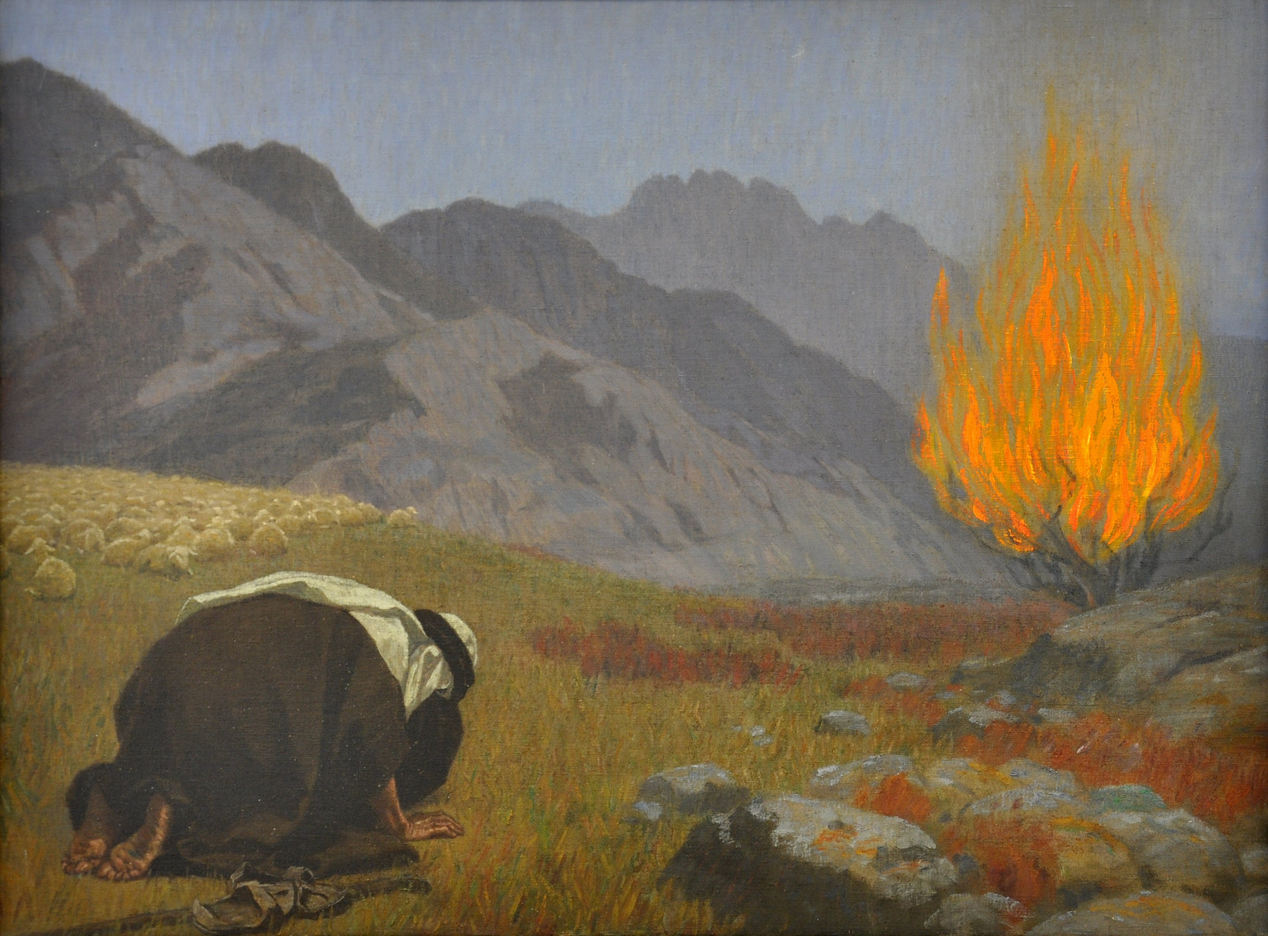 """""""For our God is a consuming fire."""" - Hebrews 12:29(NAB)  Gebhard Fugel [Public domain], from Wikimedia Commons"""