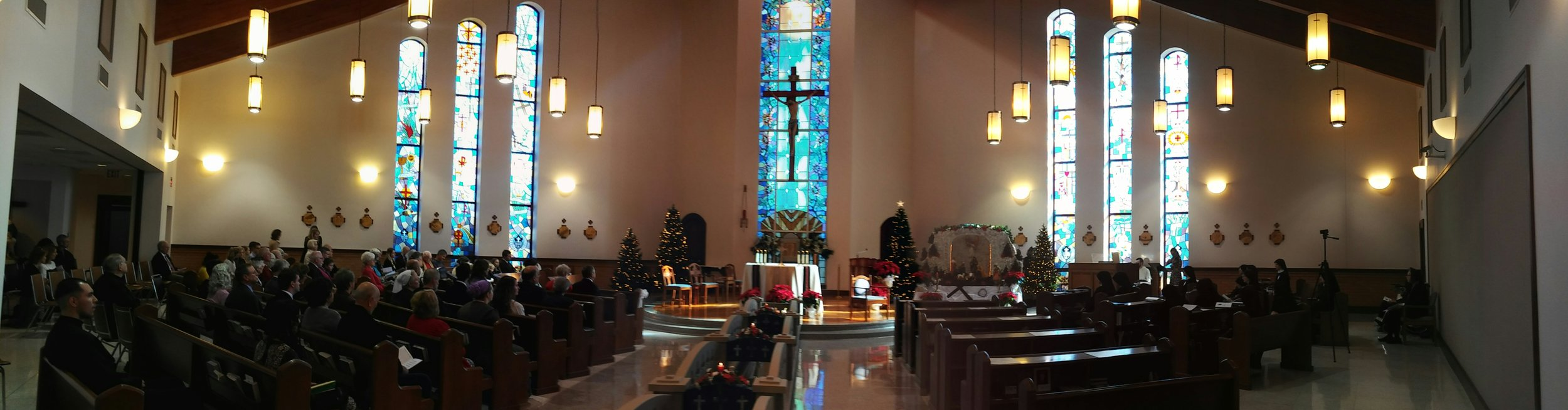 Panorama of the Chapel before Mass