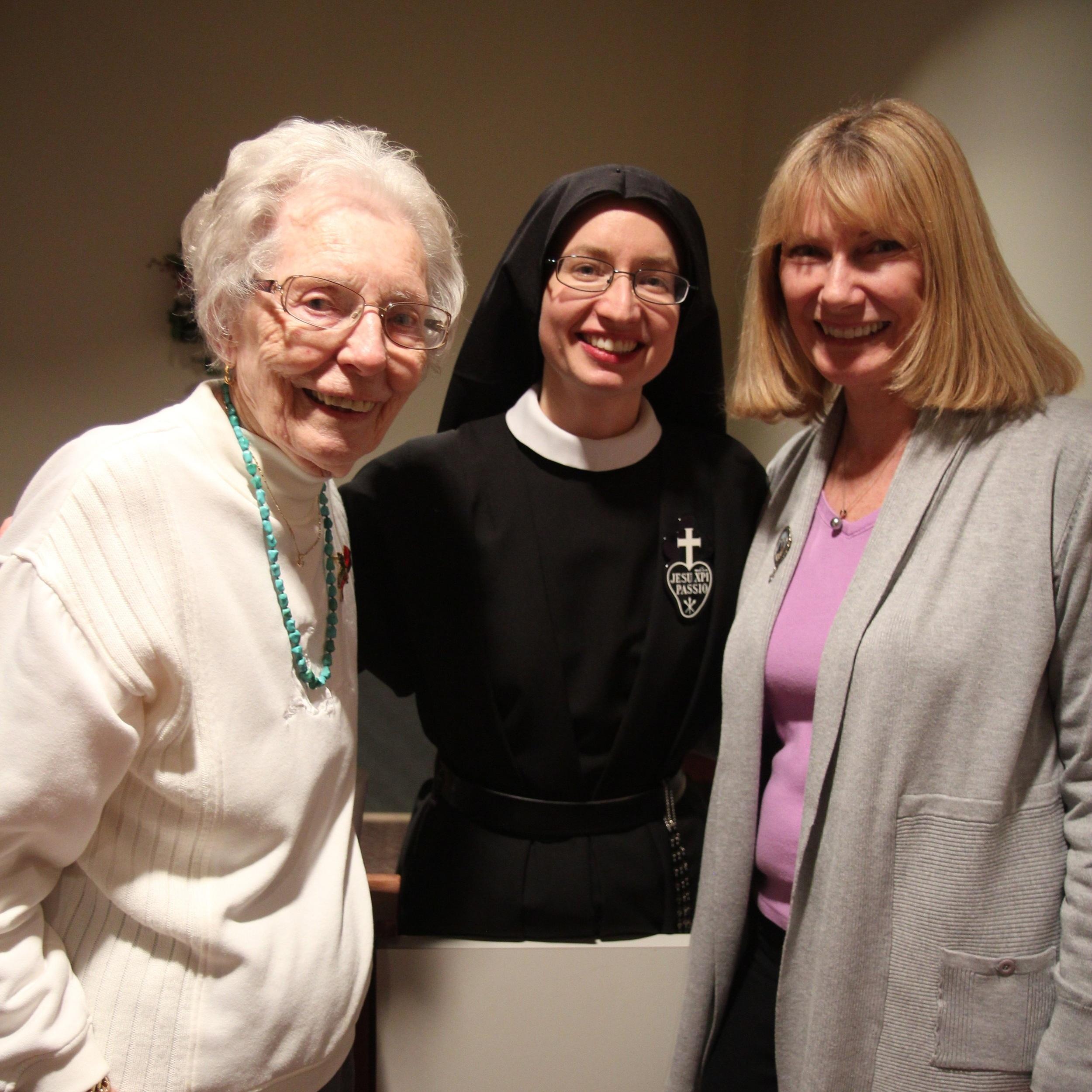 Grandma Nita, Sr. Cecilia Maria, and Aunt Alice