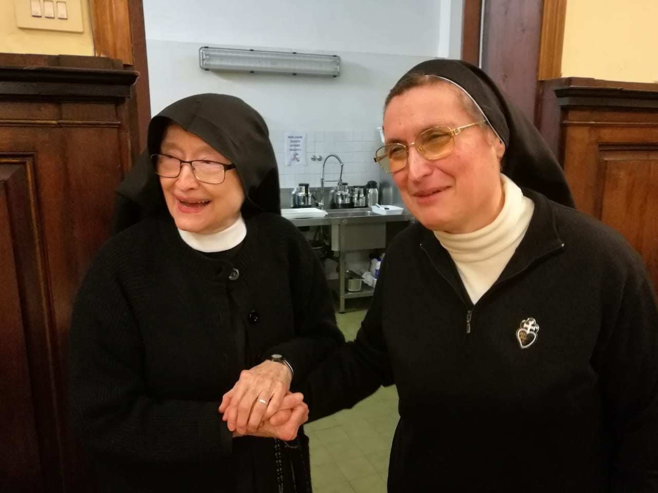 Mother Catherine Marie with Mother D'Alessandro, Superior General of the Signa Sisters