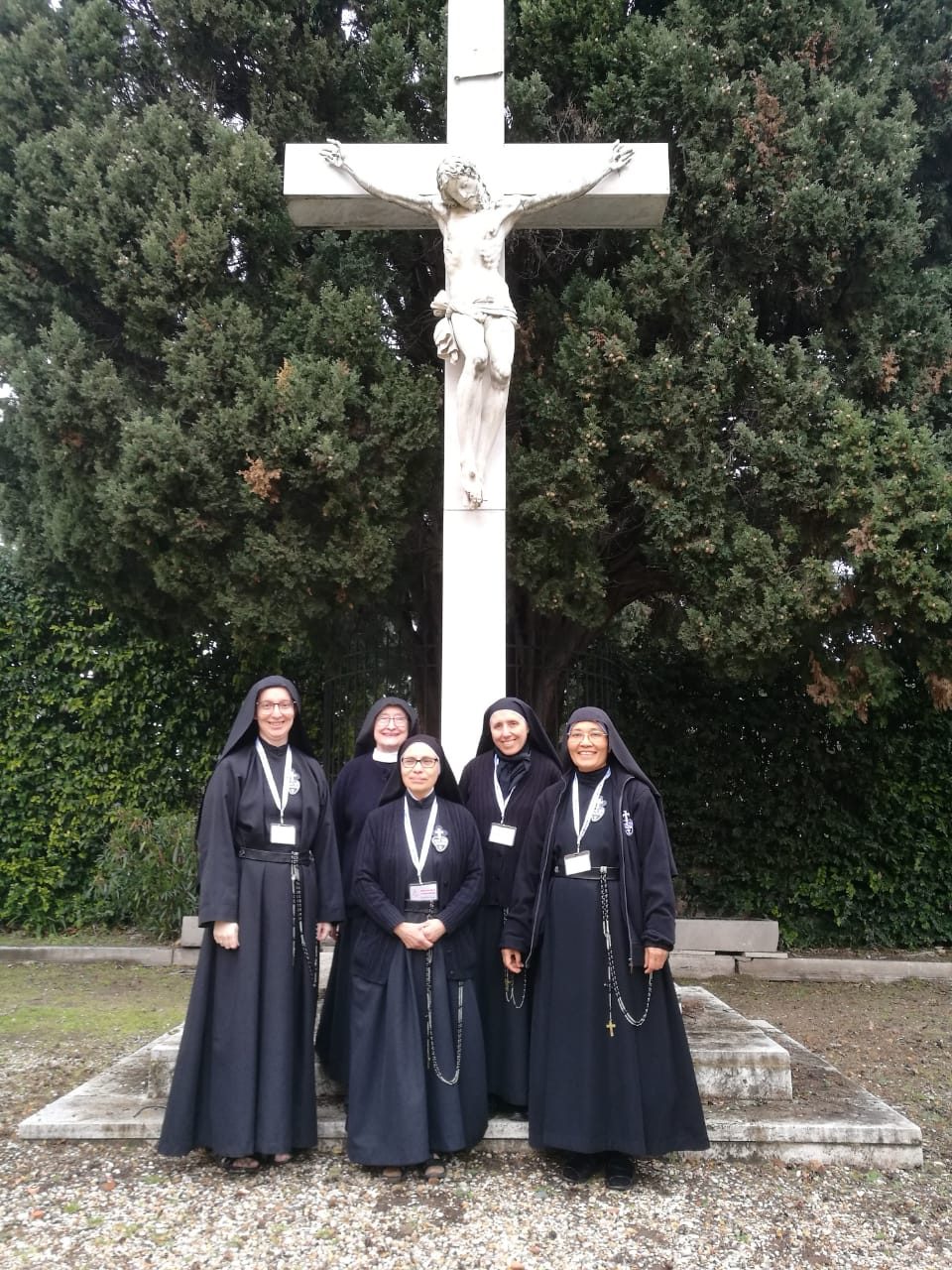Sr. Daniela, Mother President Catherine Marie, Mother Ana Maria, Mother Gertrude, and Sr. Martina