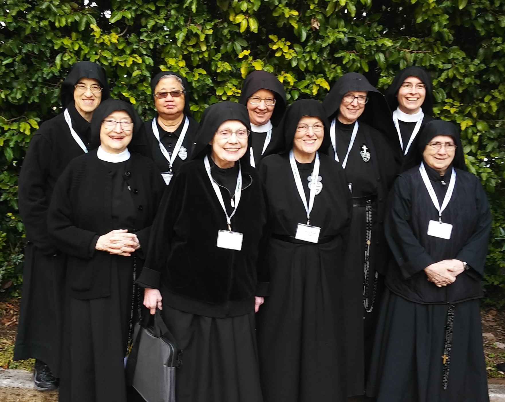 All the American nuns present at the General Chapter including our Mother Catherine Marie (bottom left), Mother John Mary (top right), and Sr. Mary Veronica (top center)