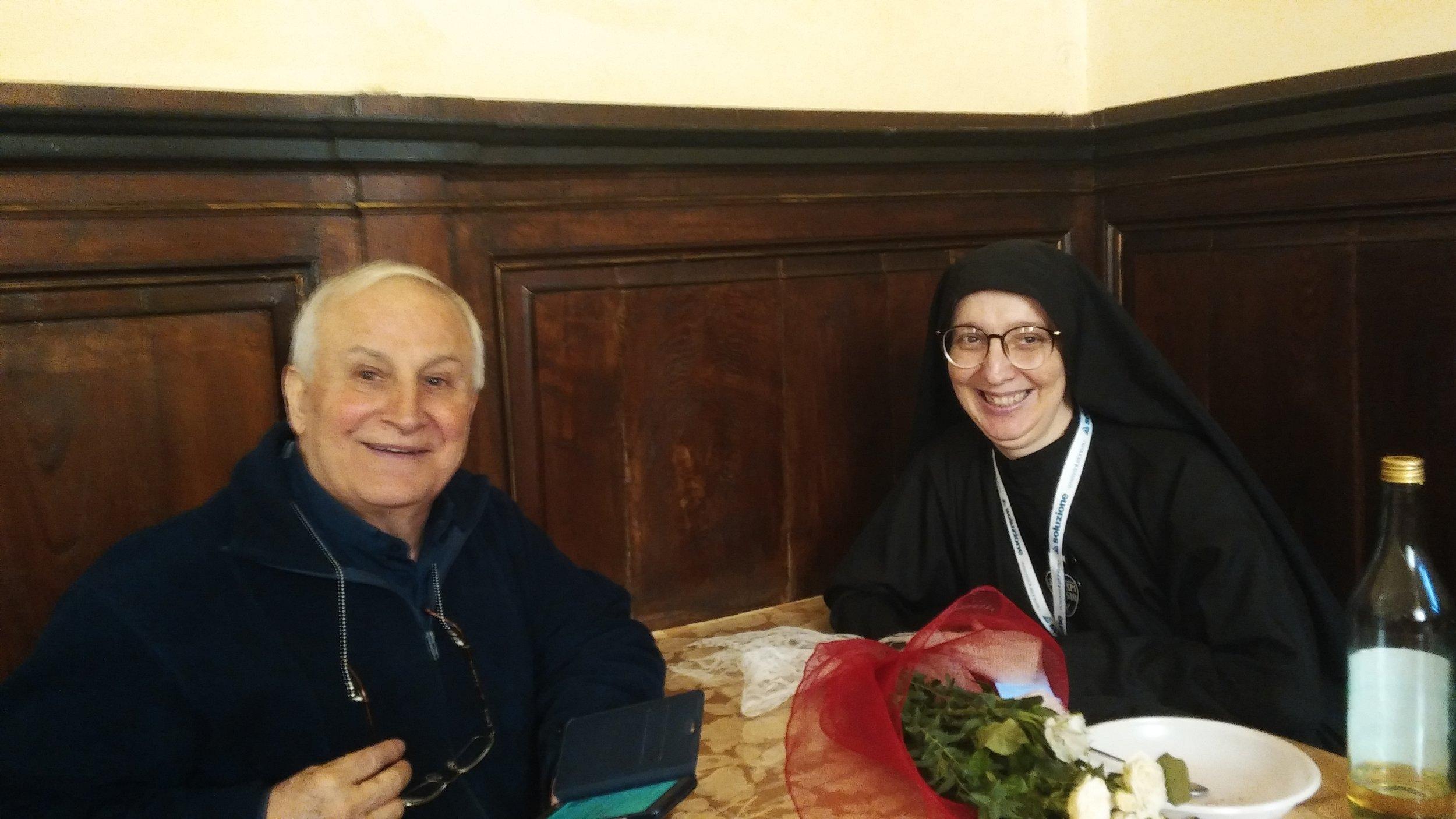 P. Giovanni Cipriani, Passionist Provincial of Brazil, with Sr. Daniela, Brazilian nun and member of the General Council