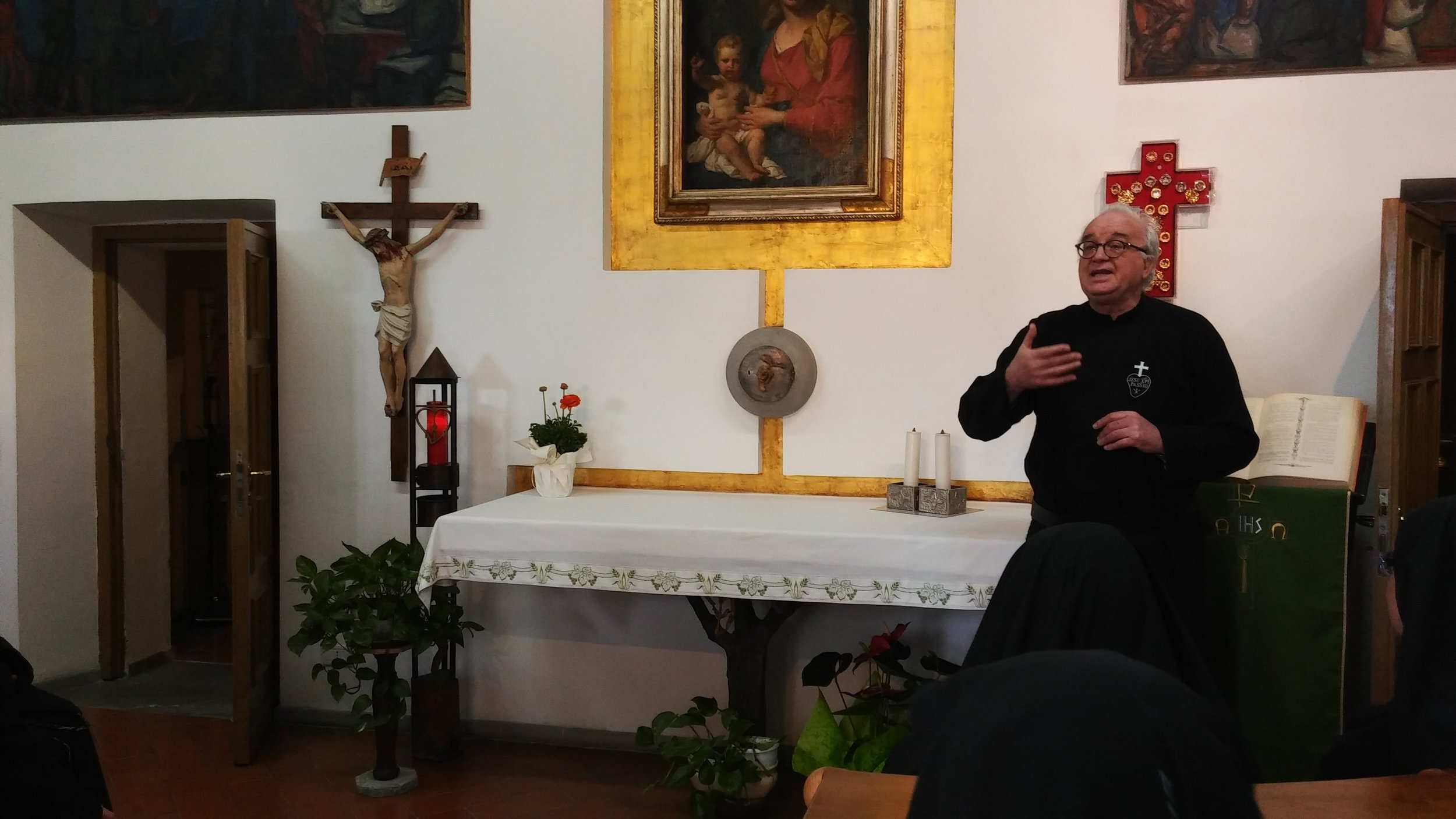 P. Carlo, CP, Novice Master at the Retreat of the Presentation on Monte Argentario.
