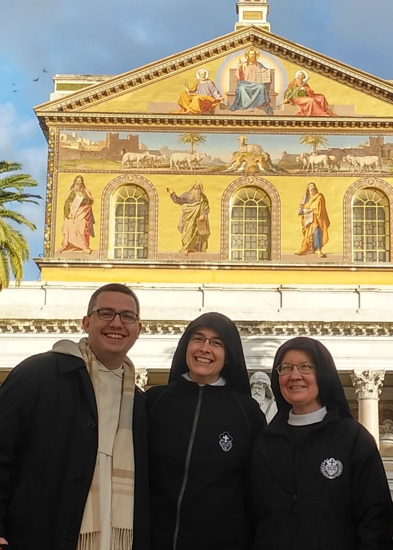 Fr. Austin Litke, OP took Mother John Mary and Sr. Mary Veronica on a little Roman pilgrimage, including this stop at St. Paul Outside the Walls.