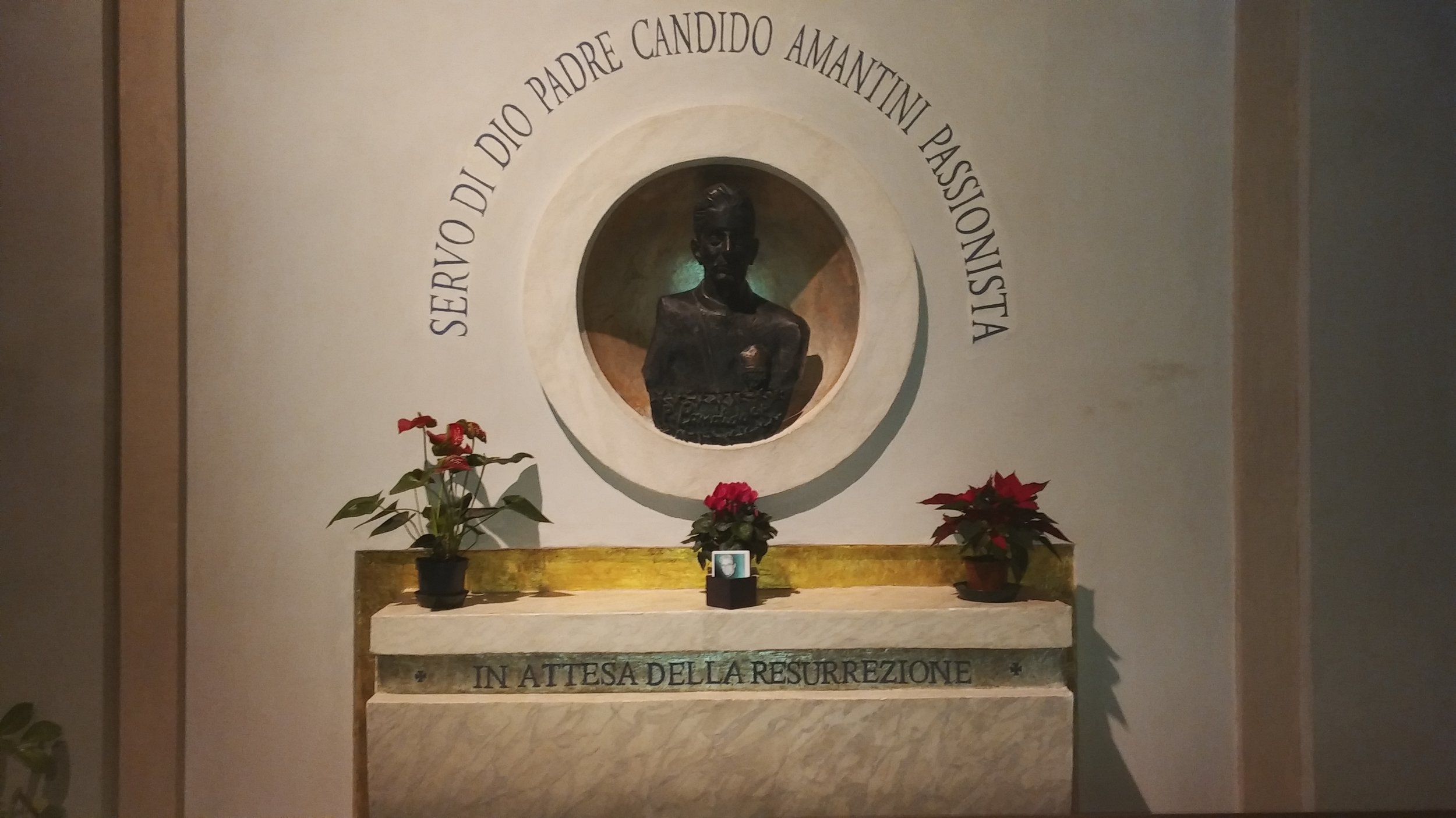 The tomb of Servant of God, P. Candido Amantini, CP at the Scala Sancta in Rome.
