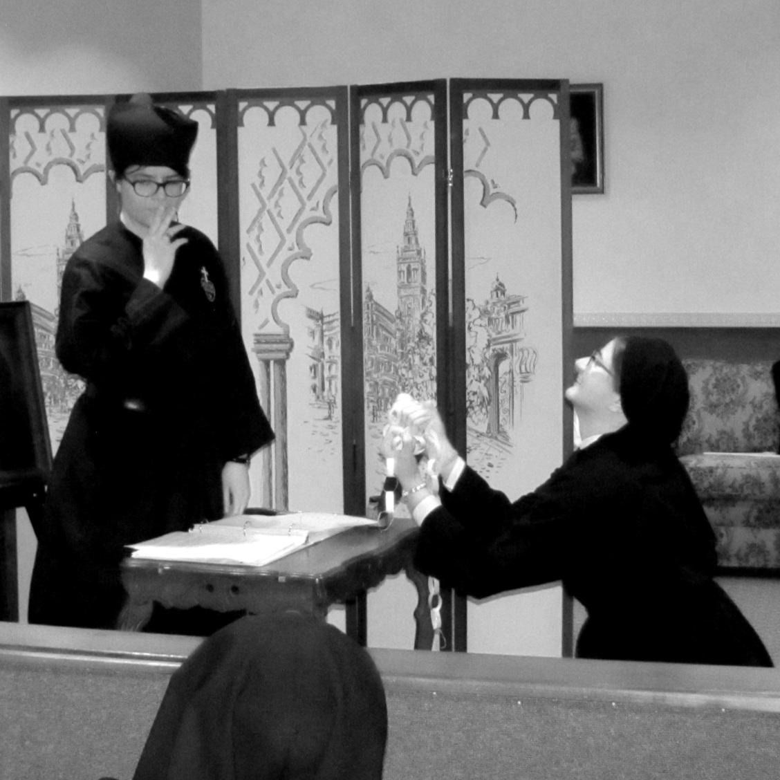 …Fr. Norbert refuses.  Gabriel insists.  Fr. Norbert reconsiders...