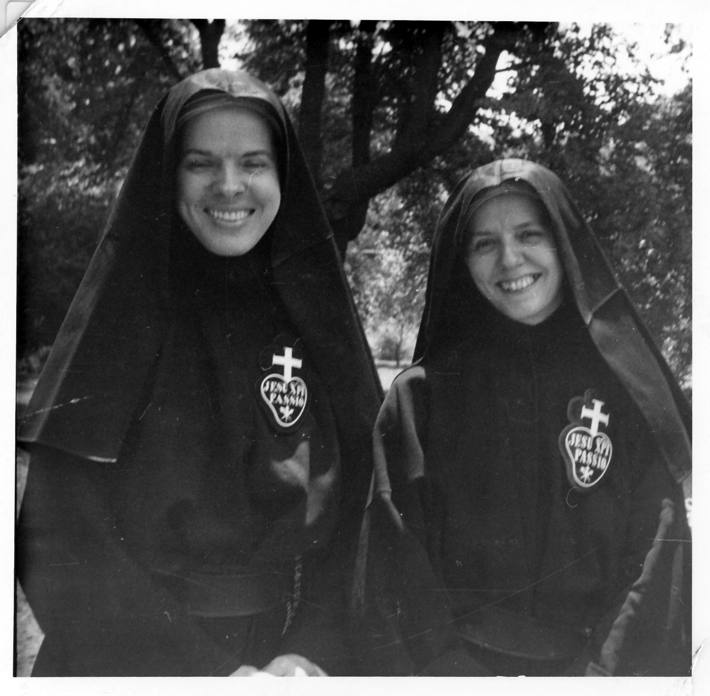 Sr. Ann Miriam (dec) and Sr. Marie Michael at our original monastery in Owensboro