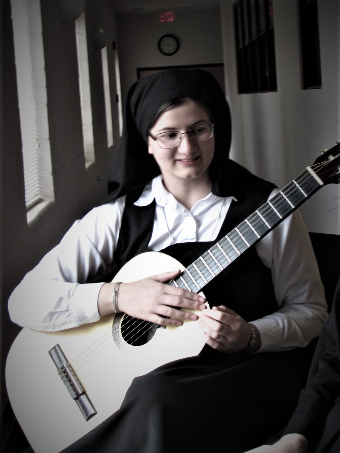 Theresa, our novice-to-be and classical guitarist