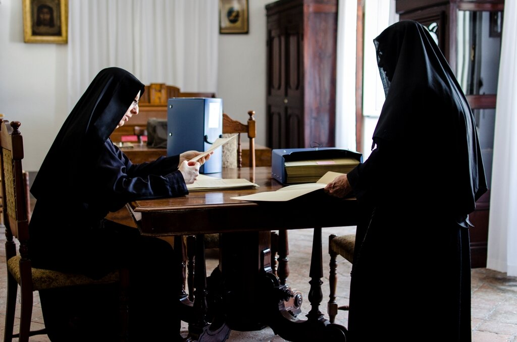 Sr. Daniela loved having access to the archives in Tarquinia in order to learn more about the early nuns.