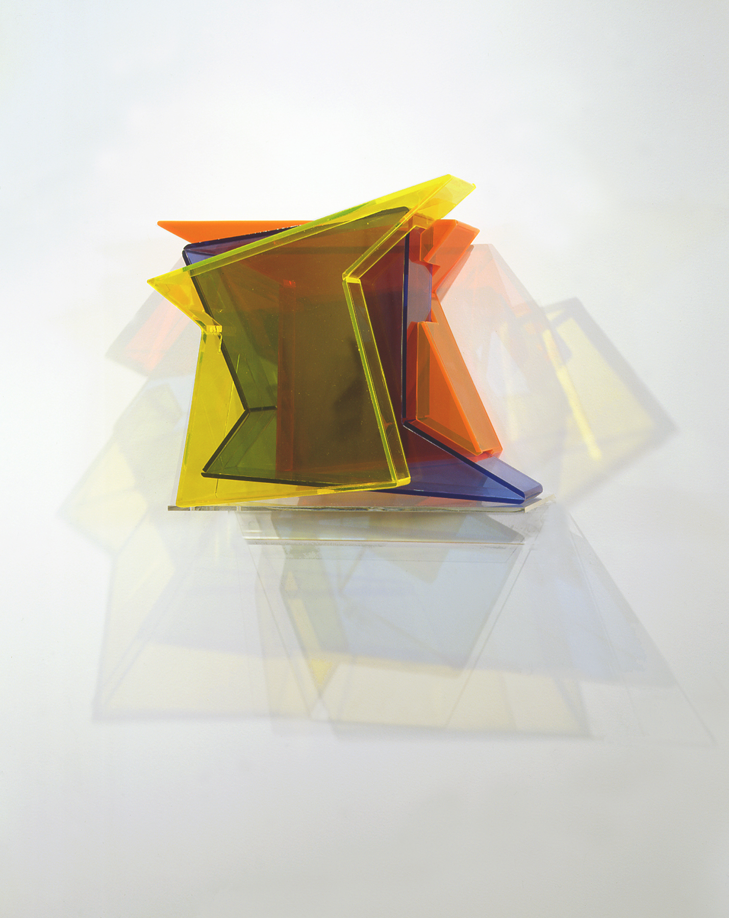 Over Tracks  (tricolor) 2006 Plexiglas 13Hx19Wx7D  inches / 48x33x18 cm