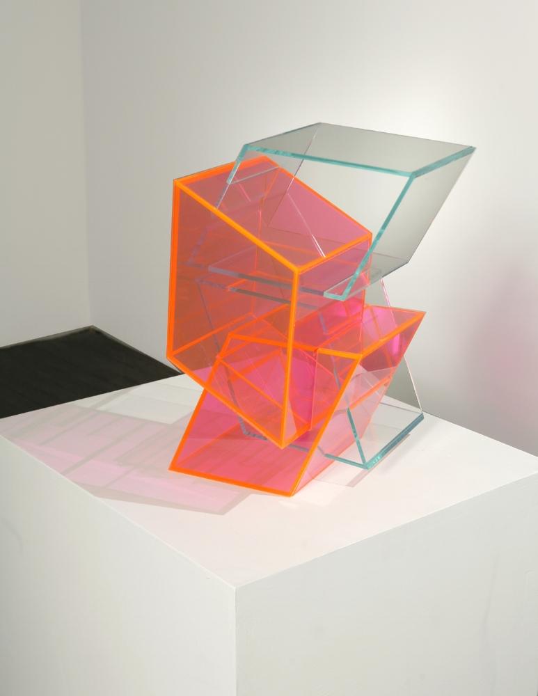 Mingled Stutter  (pink) 2007 Plexiglas 17.5/2Hx12Wx13D inches / 44x31x33 cm