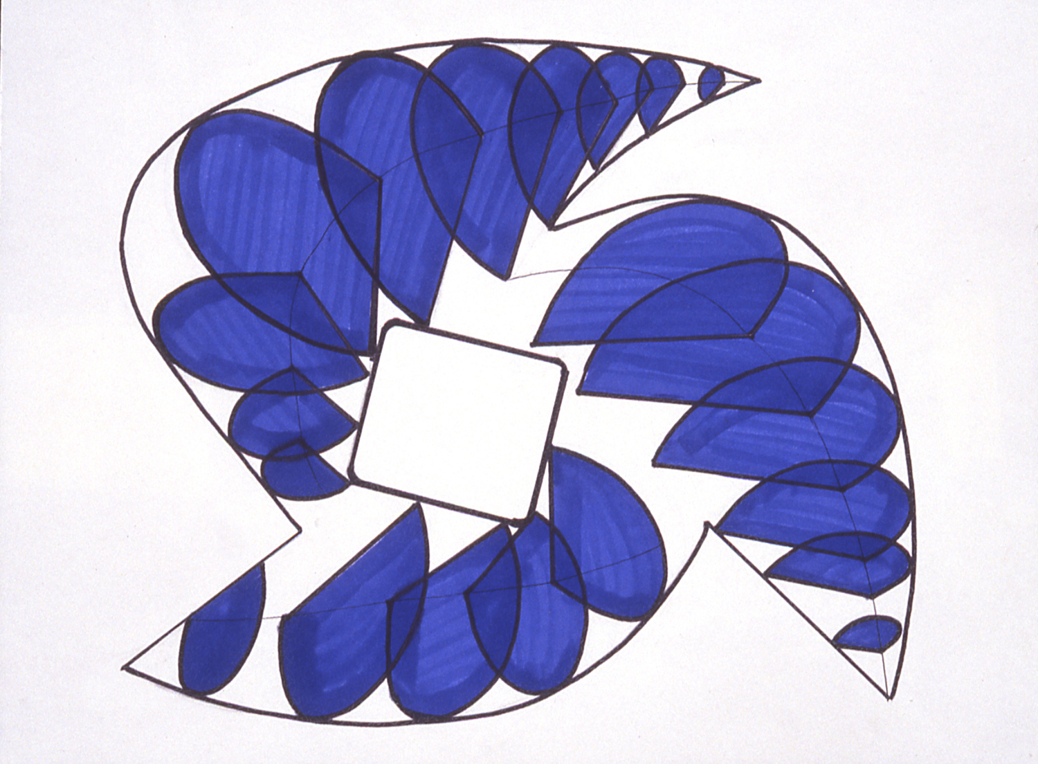 Own Momentum, 1999 Permanent marker on 100% rag paper 14x17 inches / 36x43 cm