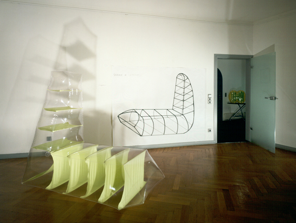 Shadow of Possibility   1999 inflated vinyl, installation at Hotel Chelsea residency, Cologne, Germany