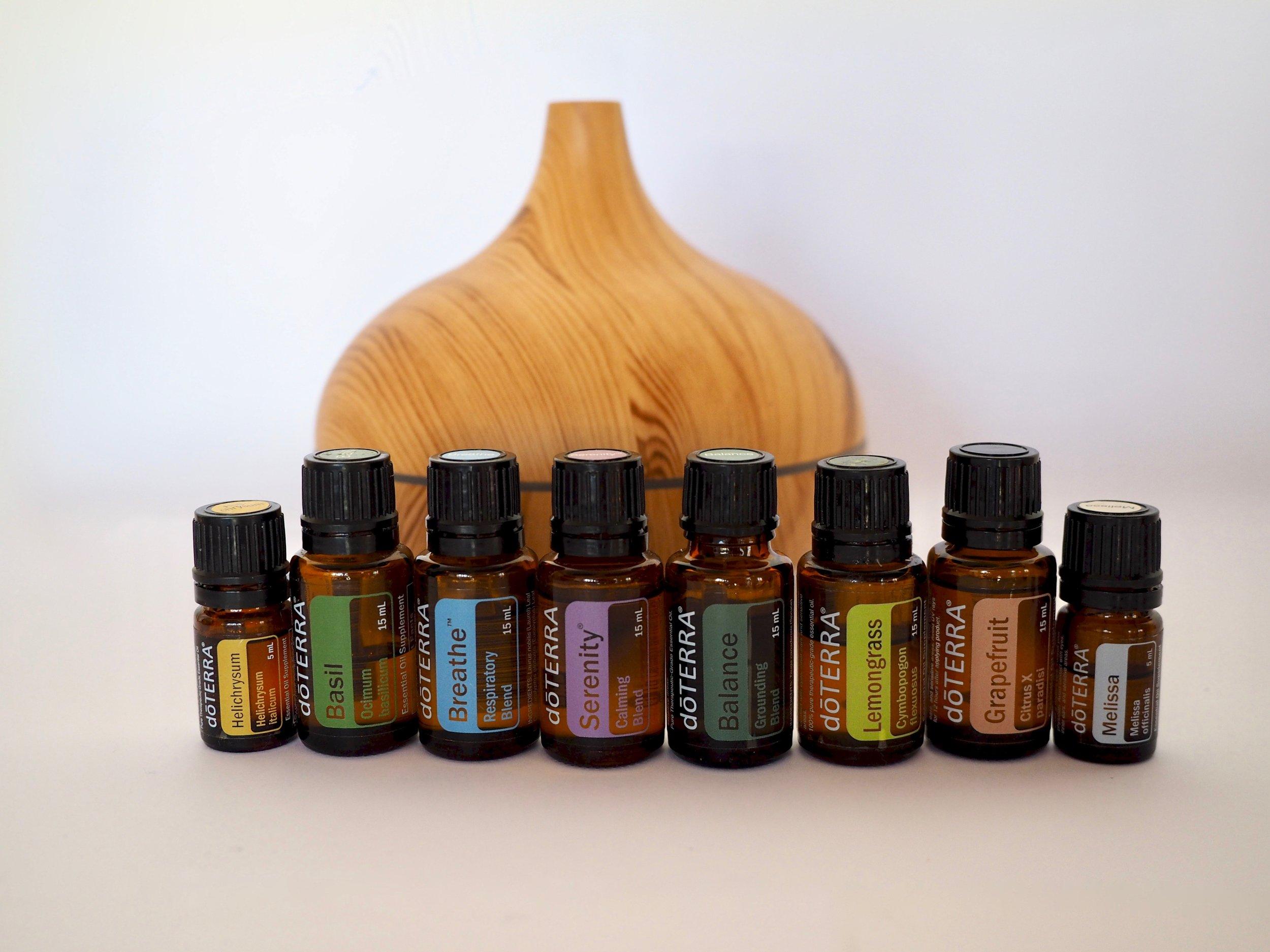 doTerra essential oils for enhanced sessions