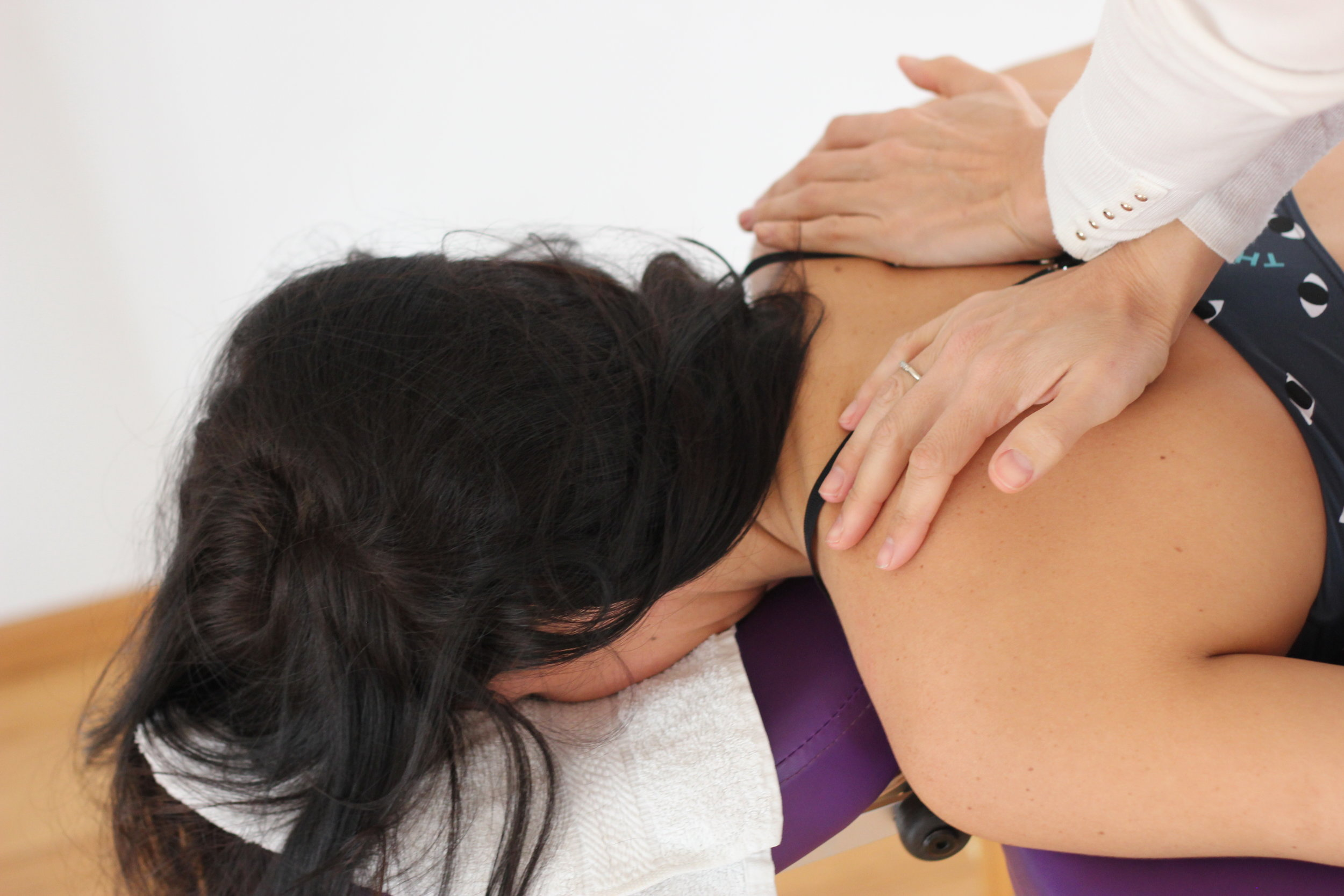 Chiropractic adjustment by Dr. Julie