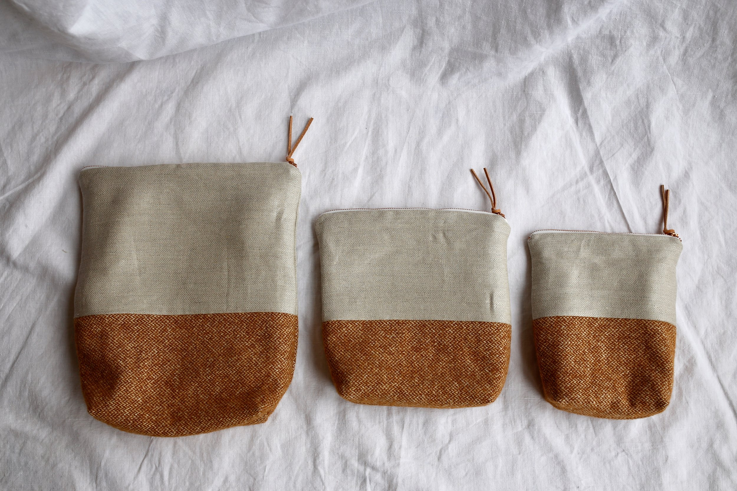 From left to right: Large, Medium & Small.