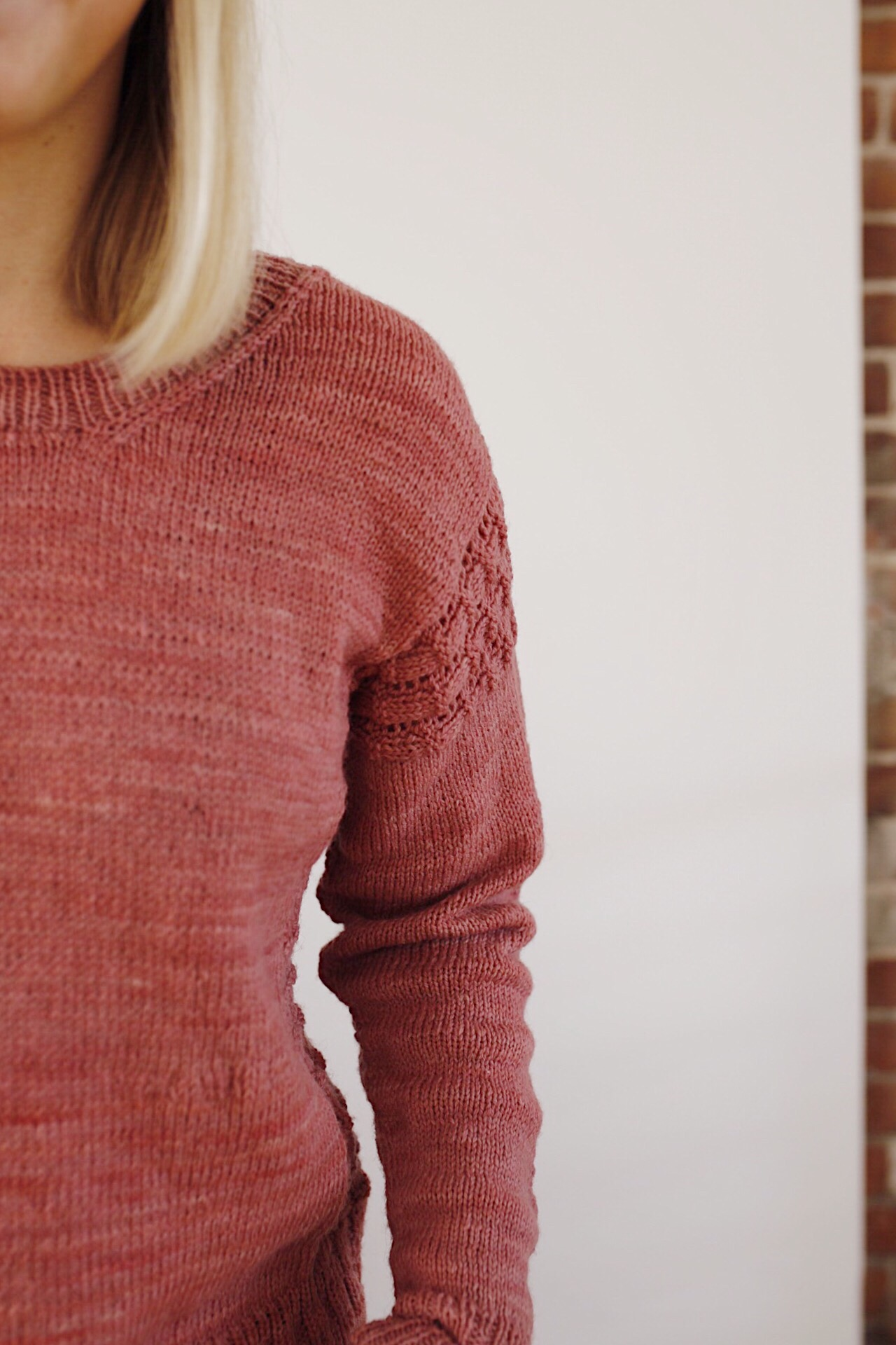 Lace Detail Hay Sweater Clare Mountain