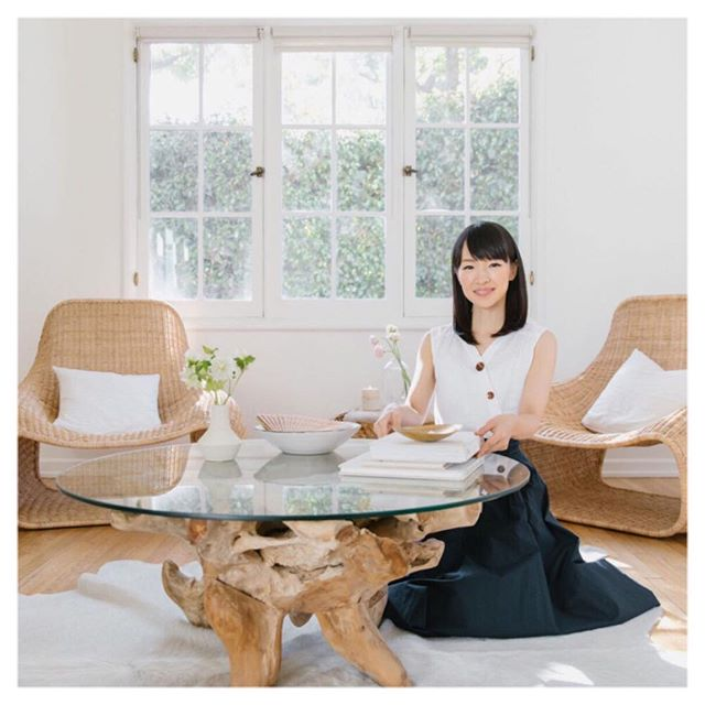 New article on the site link in bio. @mariekondo is changing our lives and clearing out our homes. Helping us get our s**t together since 2004. Check it out. Her method is truly transformative.
