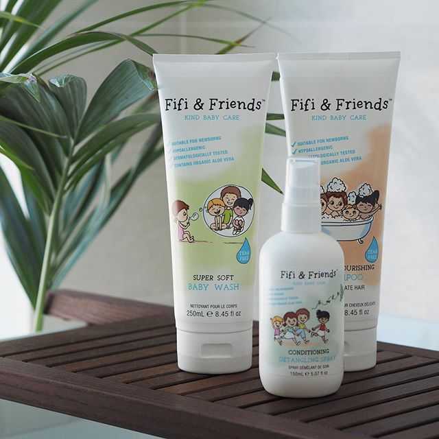 Make bath time enjoyable and safe with the products from Fifi & Friends. -The products have been gifted to us-