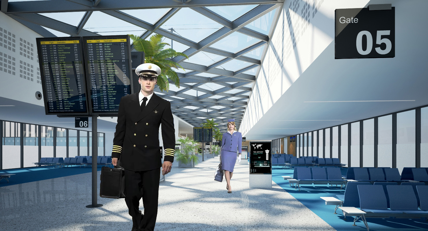 """""""Welcome To Pan-Am International Airlines"""" - Guests will enter the theatre lobby disguised as a Pan-Am airport terminal in the 1960's, complete with actors/actresses dressed as airline pilots and stewardesses to enhance the experience ."""