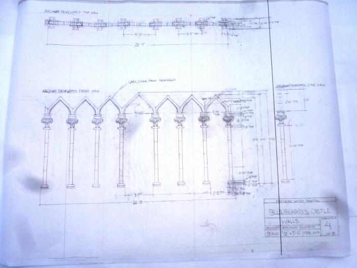 Béla Bartók's Bluebeard's Castle: Vertical Detail Design by Jacqueline Gilchrist