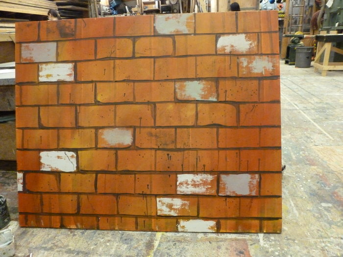 Brick Scenic Painting Sample by Jacqueline Gilchrist