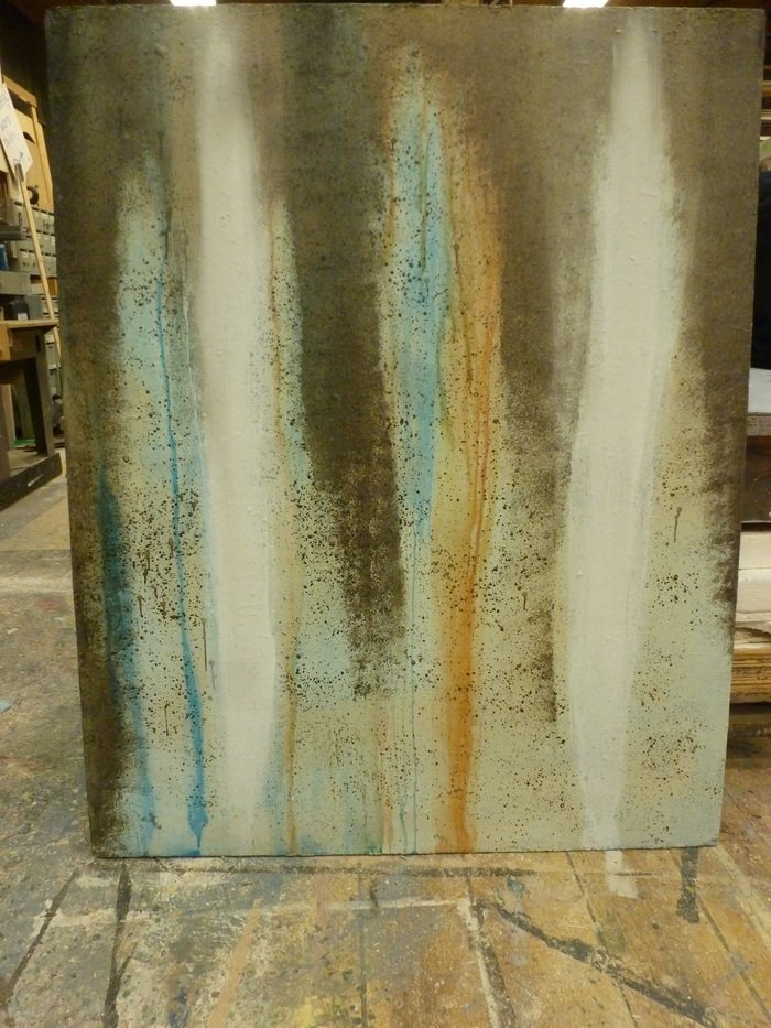 Distressed Concrete Scenic Painting Sample by Jacqueline Gilchrist