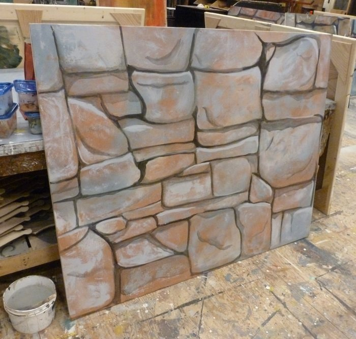 Stone Scenic Painting Sample by Jacqueline Gilchrist