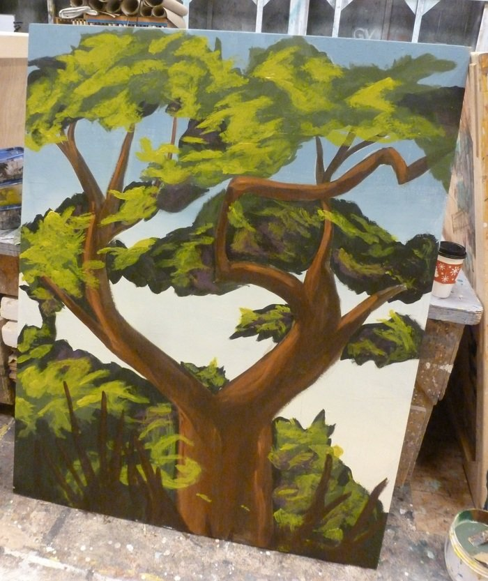 Tree Scenic Painting Sample by Jacqueline Gilchrist