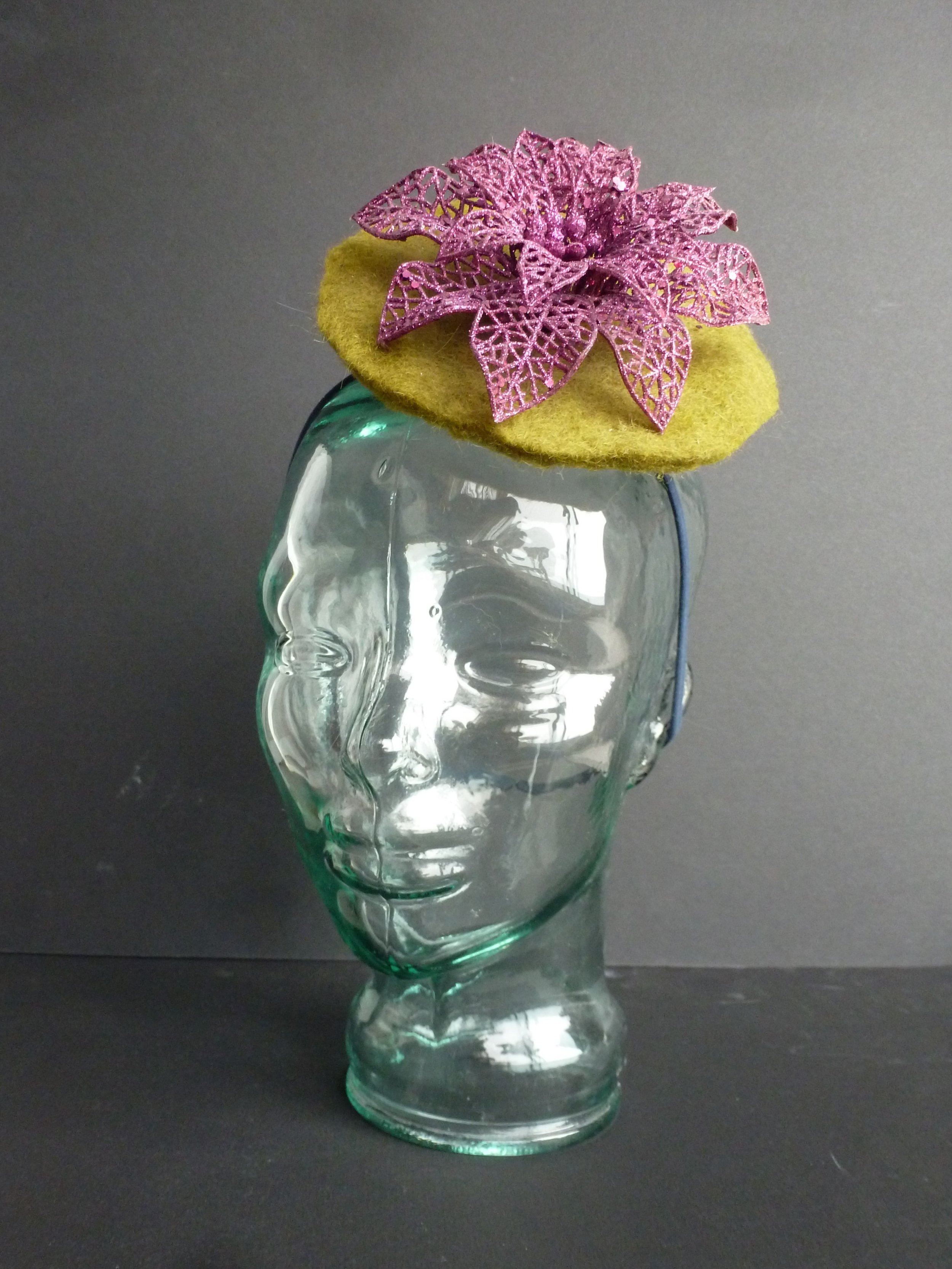 Costume Construction Lily Pad Fascinator Front.JPG