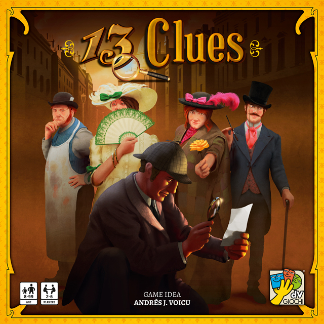 13 Clues - A game a bit like Clue crossed with Guess Who.