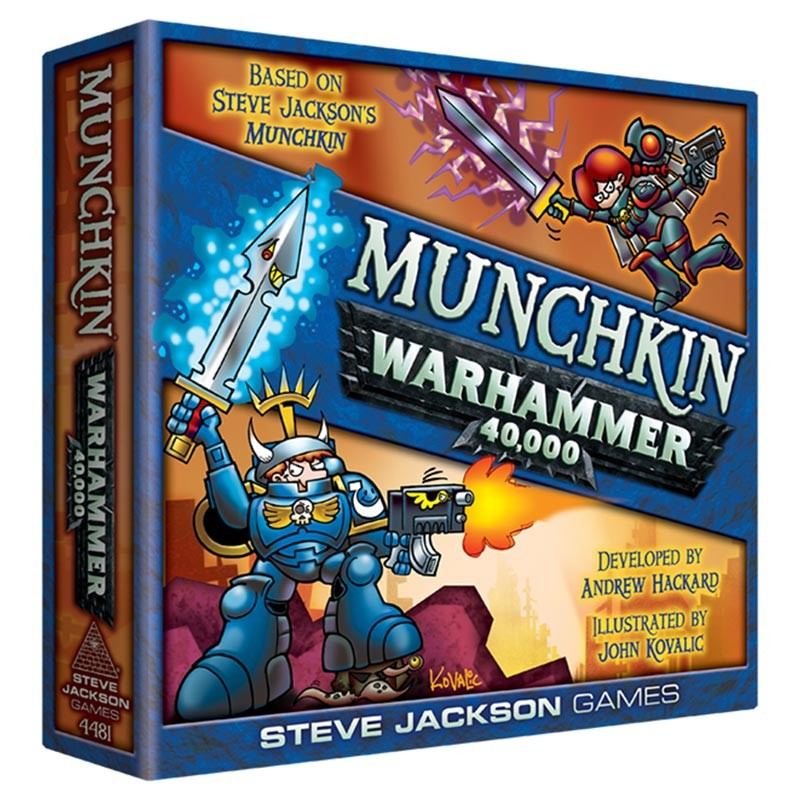 Munchkin: Warhammer 40k - I still haven't learned Warhammer, but I know me some Munchkin, and this is just plain fun!