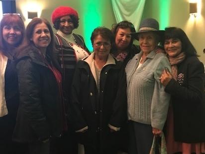(L-R) Laura Gaber, Leticia Urias, Jacquella Payne, Sylvia Galindo, Elena Caballero, Celia Galindo, and Patty Goytia