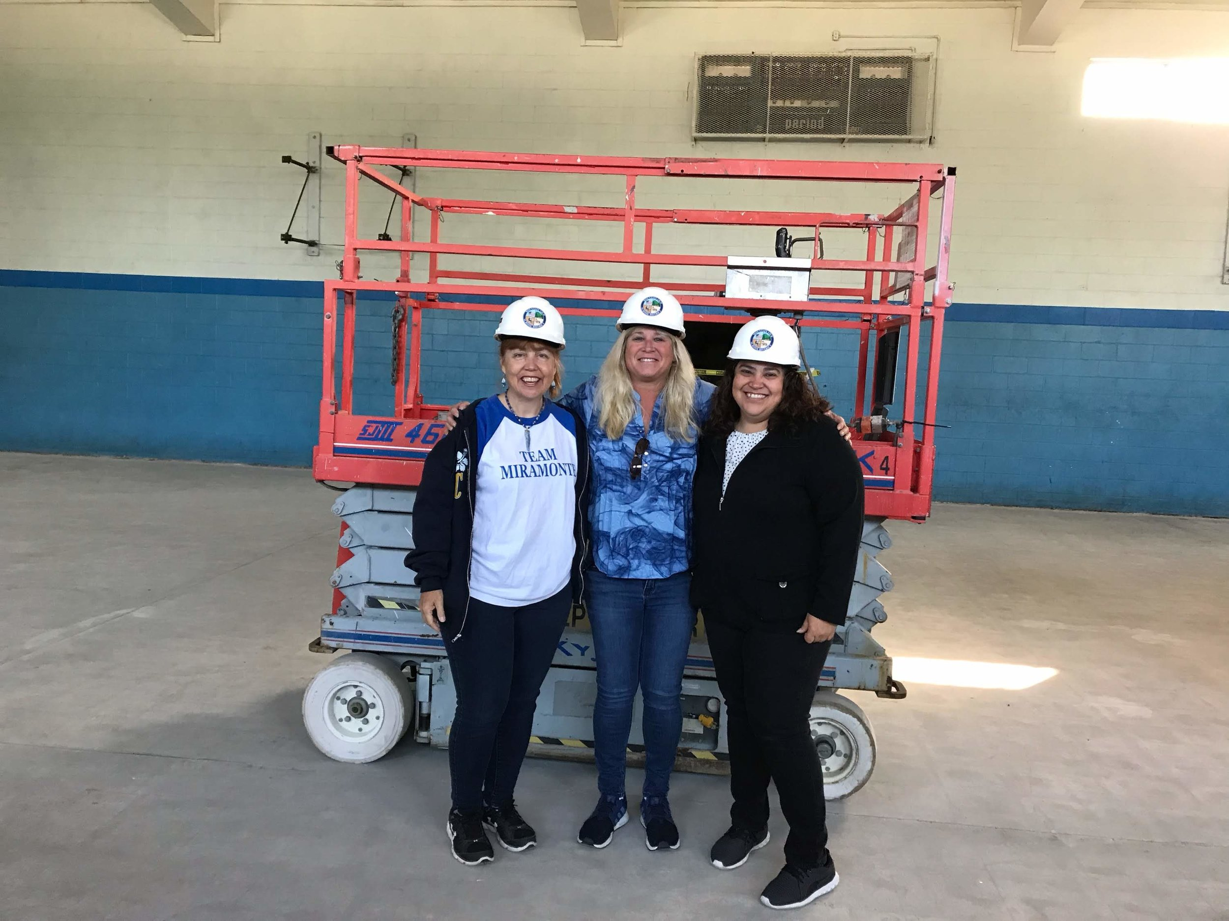 Left to Right: MVTA Members - President, Laura Gaber; Member At Large 4-6, Jenny Siebel; Member At Large Pre K-3, Brenda Lopez