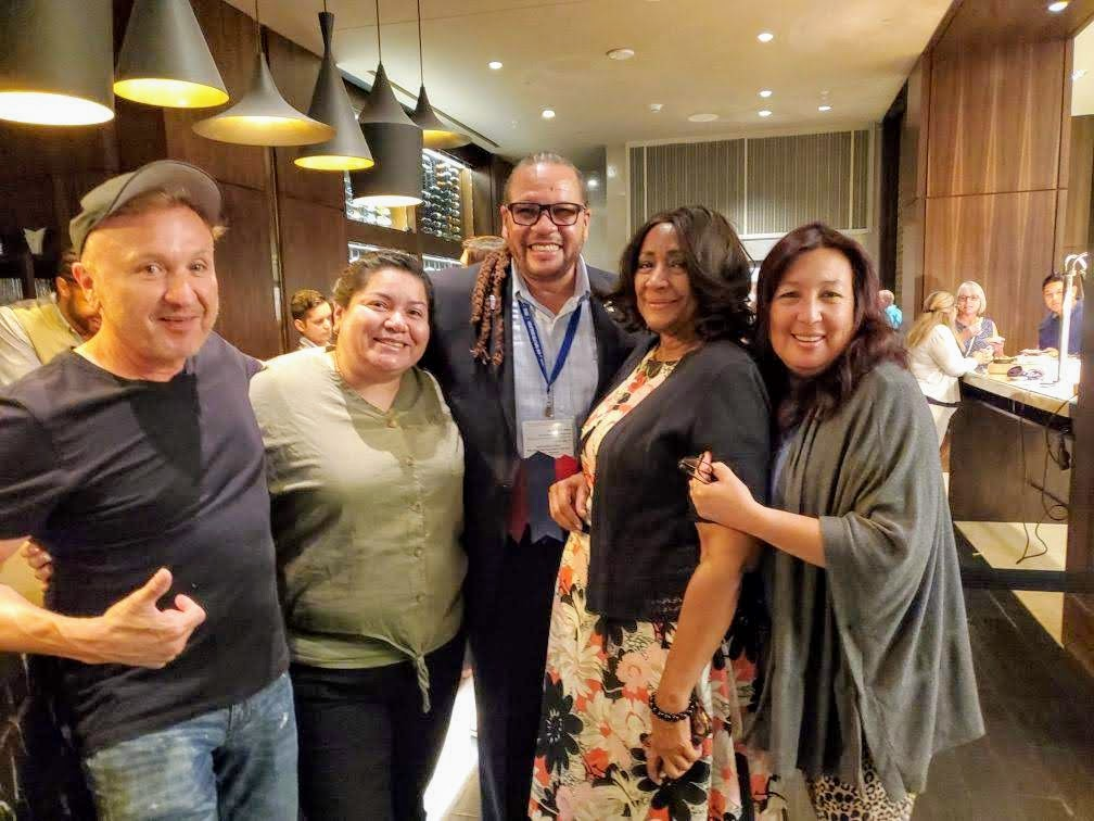 MVTA building a relationship with our CTA President Toby Boyd at the NEA-RA in Houston, TX. (From left: Victor Zamora, Maria Frias, Toby Boyd, Jacquella Payne, and Elena Caballero)