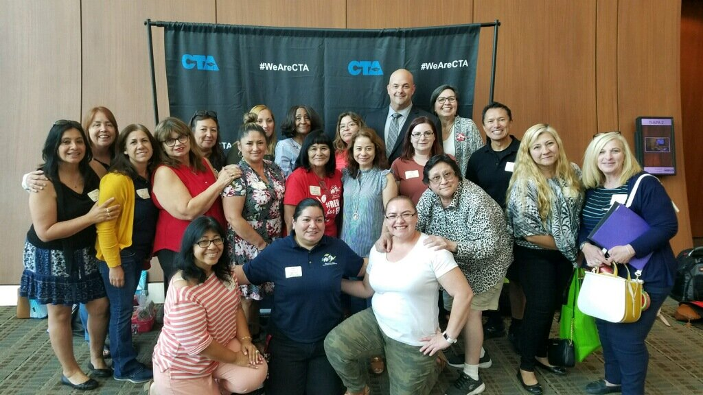 MVTA members along with Christian Lozano and Margie Granado, at the Service Center One Leadership Training and Legislative Brunch.