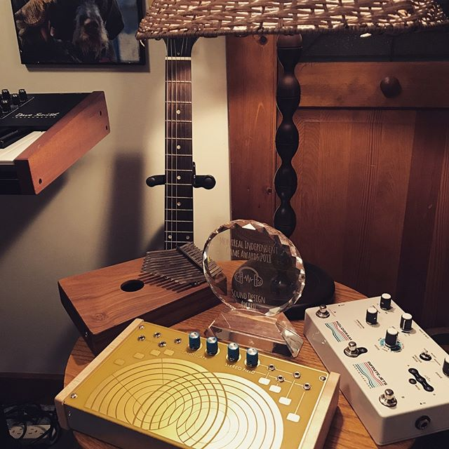 Celebrating some new additions to the studio. @hologram_electronics #infinitejets @landscape_fm #stereofield and @kalimbamagic #hughtracey have brought wonderful sounds into my life in 2018, as have the gracious folks at #Audinity, #PolymorphGames and #MIGA. I'm able to create because of the hard work, openness and humanity of others. My goal for 2019 is to do more to pay that forward.