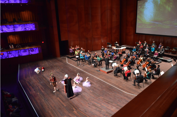 Children's Ballet of San Antonio Cast Members perform a Mid Summer Nights Dream with San Antonntio Symphony Orchestra