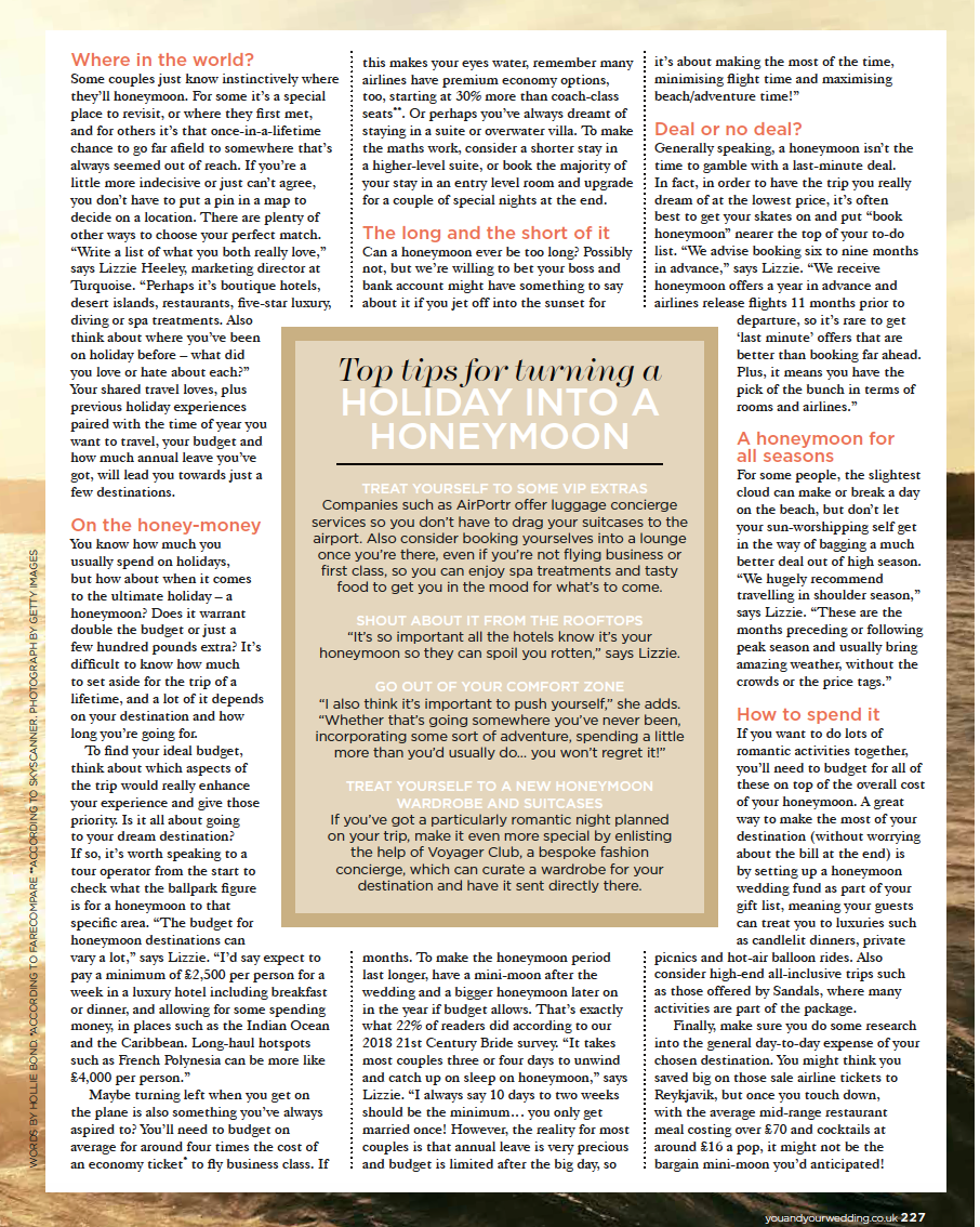 Press- Voyager Club - Honeymoon
