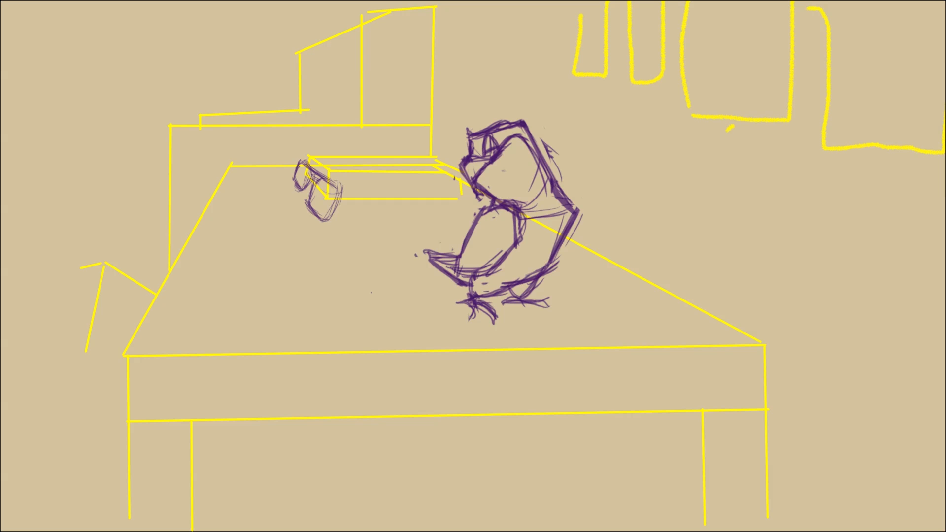 Rough animation frame on layout