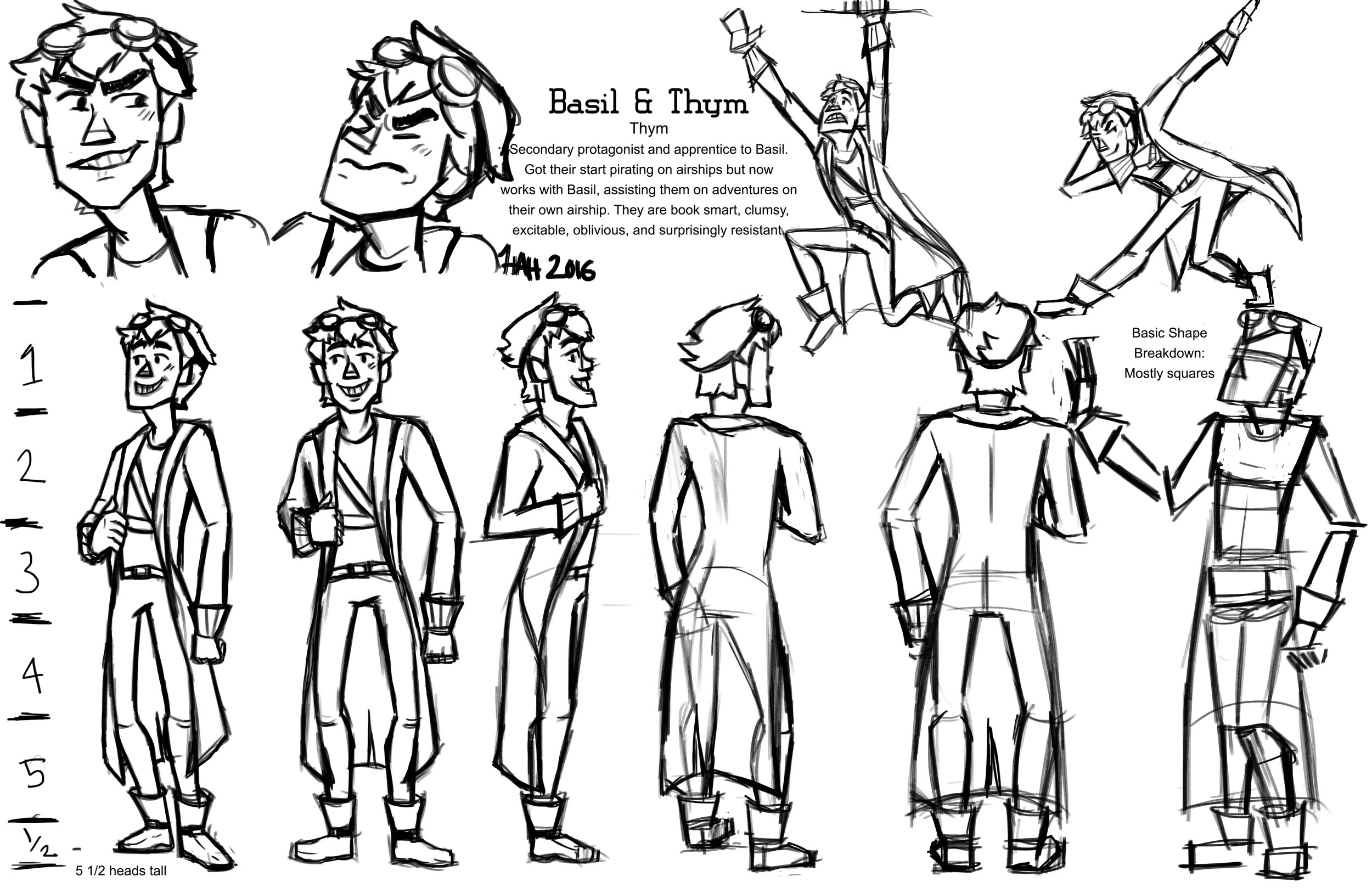 Animated Short Character Sheet: Thym