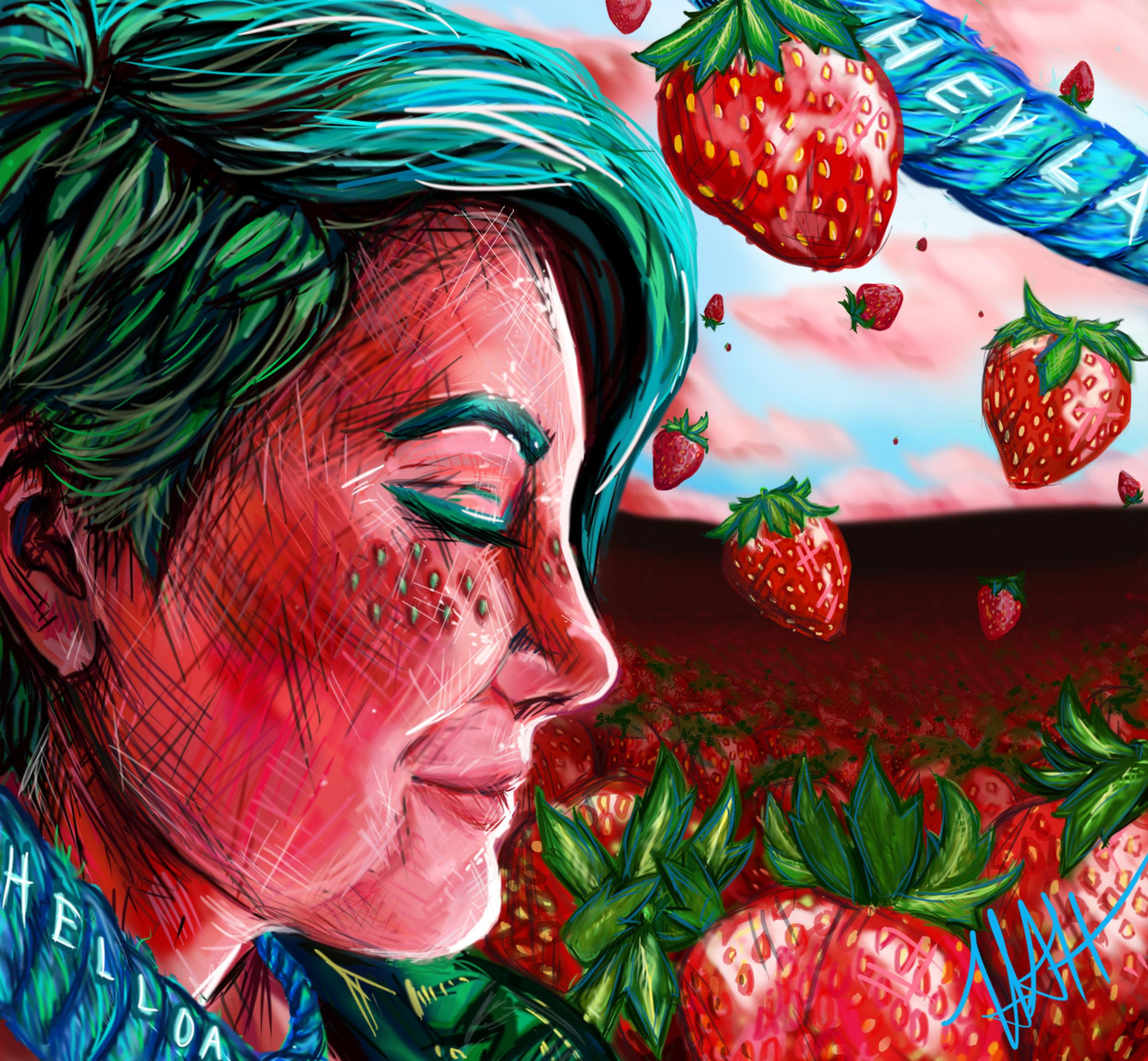 Henning, Heather digital painting Strawberry Fields Forever.jpg