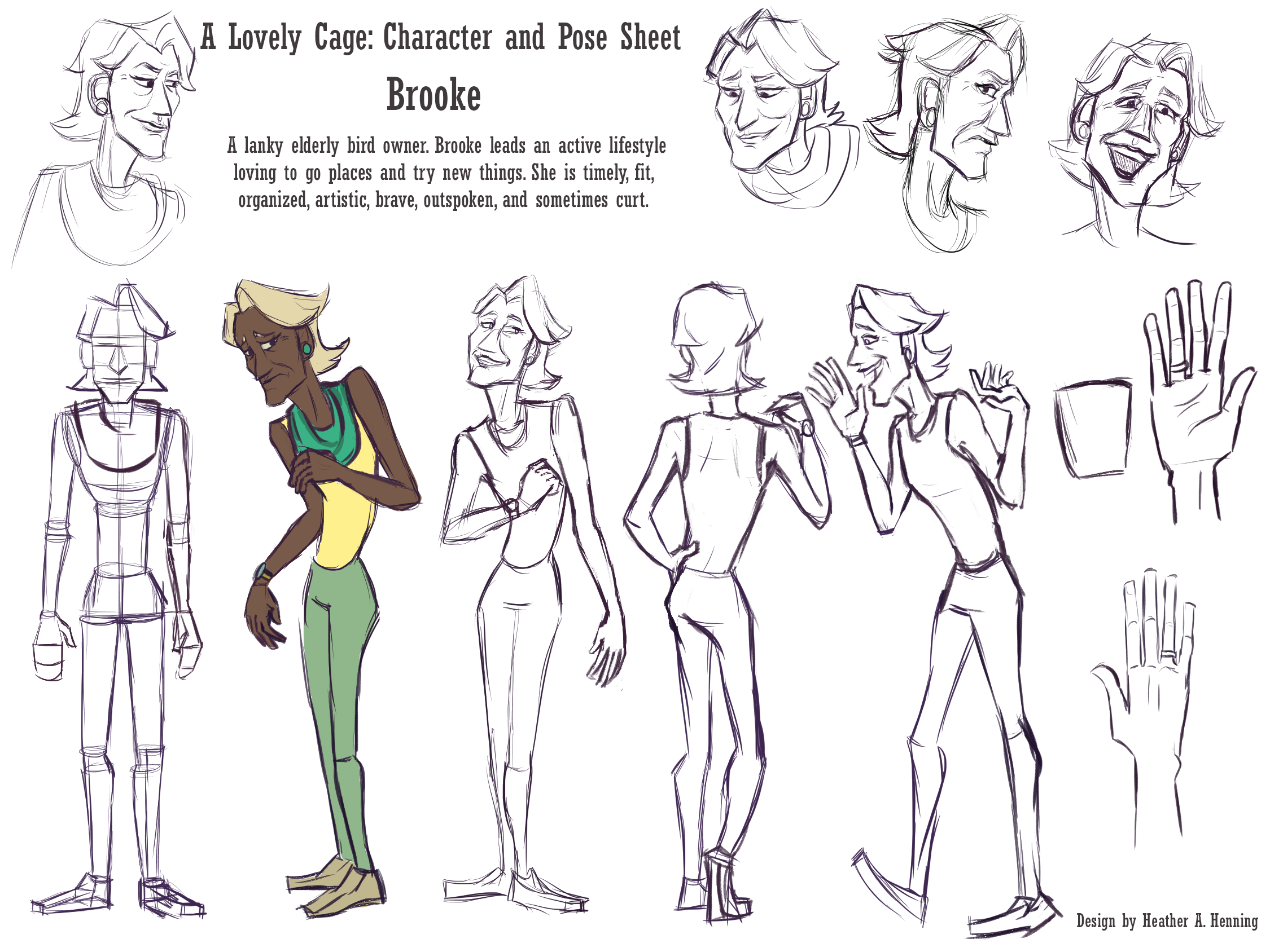 Character and Pose sheet
