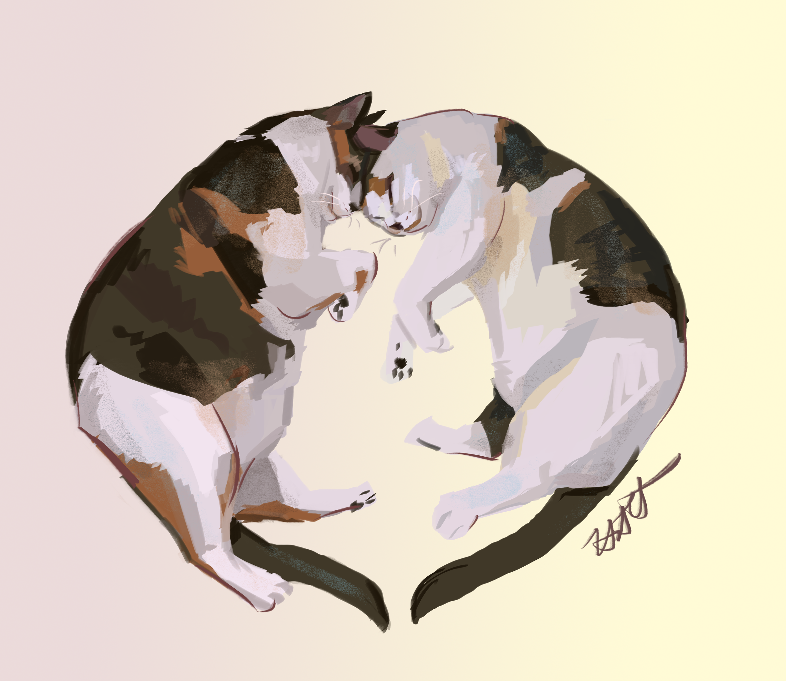 Loving Cats Commission