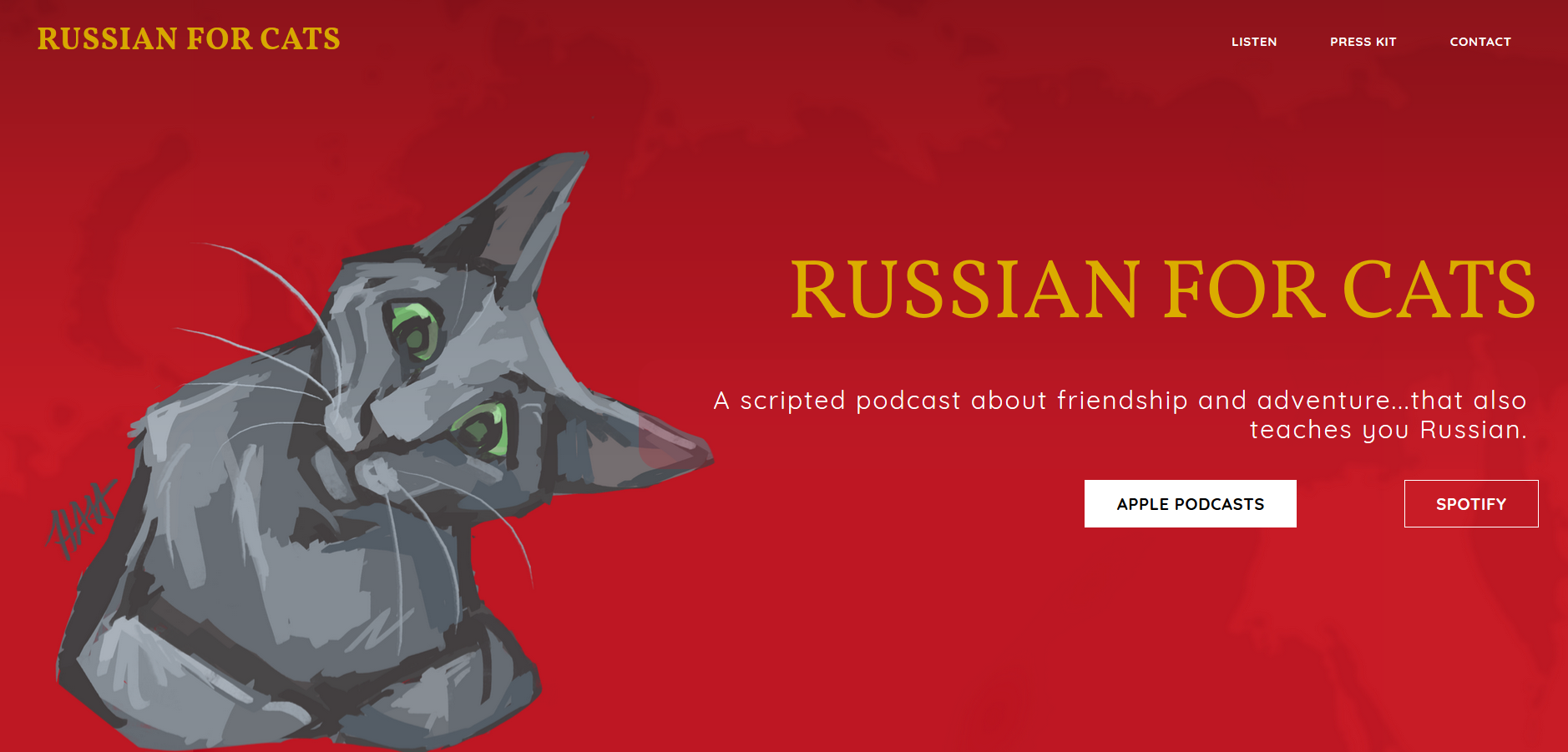 Russian For Cats Website Art
